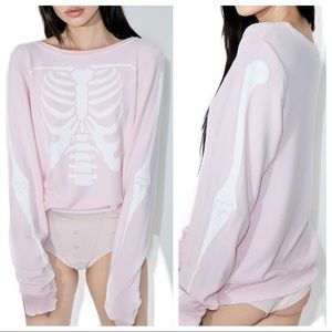Wildfox Pink Inside Out Sweater